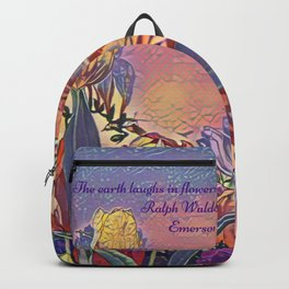 The earth laughs in flowers Backpack
