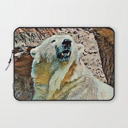 Toony Polar Bear Laptop Sleeve