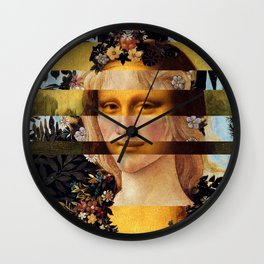 Leonardo's Mona Lisa & Botticelli's Flora Wall Clock