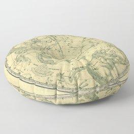 Antique Celestial Northern Circumpolar Map Floor Pillow
