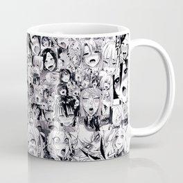 1000 Ahegao Black and White Coffee Mug