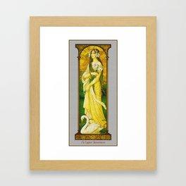 Vintage Art Nouveau - The innocent Swan Framed Art Print