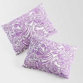 Collective tribal multiverse - purple edition Pillow Sham