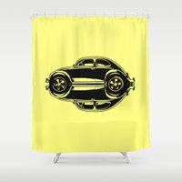 beetle Shower Curtains featuring Beetle by Barbo's Art