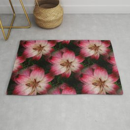 Pink Day Lily Rug