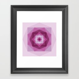 Shades of pink Framed Art Print