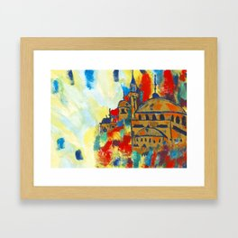 Colours of the Mosque Framed Art Print
