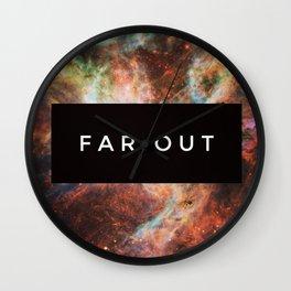 FAR OUT Wall Clock