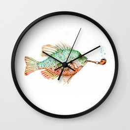 River Sunfish with a Pipe Wall Clock