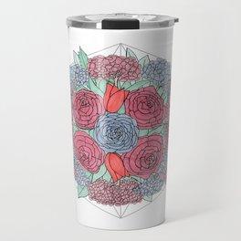 Dark Flowers Travel Mug