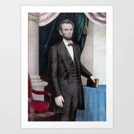 President Abraham Lincoln Art Print