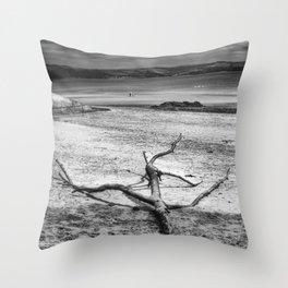 Driftwood 3 mono Throw Pillow