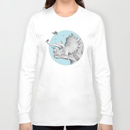 Triceratops and Birdies Long Sleeve T-shirt