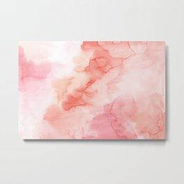 Warm pink waters Metal Print