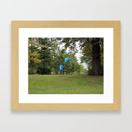 Blue baloon Framed Art Print