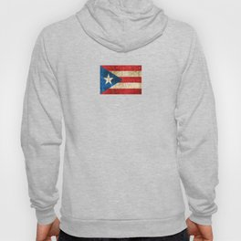 Vintage Aged and Scratched Puerto Rican Flag Hoody