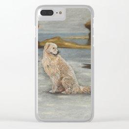 Oddball the maremma dog Clear iPhone Case