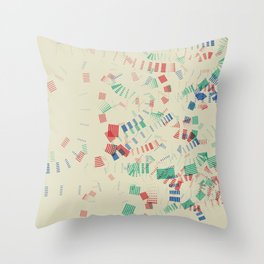 Staccato Throw Pillow