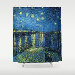 Starry Night Over The Rhone - Van Gogh Shower Curtain