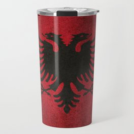 Old and Worn Distressed Vintage Flag of Albania Travel Mug