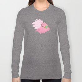 Flying Pink Pig Long Sleeve T-shirt