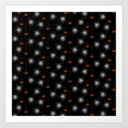 Halloween Spiders-Black Art Print