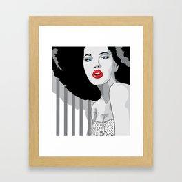 Woman hair Framed Art Print