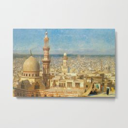 Islamic Masterpiece 'View of Cairo, Egypt' by Jéan Leon Gerome Metal Print