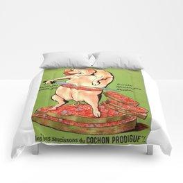 excusez mon porc Comforters
