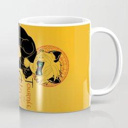 Black Cat and Ladybug Coffee Mug