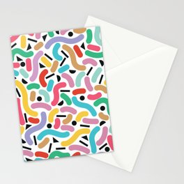 Summer Rainbow Squiggles Stationery Cards