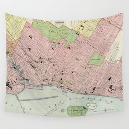 Vintage Map of Montreal (1903) Wall Tapestry