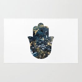 Hamsa in Outer Space Rug