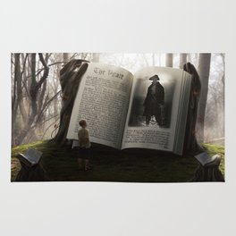 The storyteller forest Rug