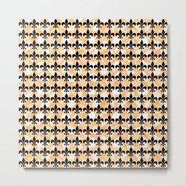 Fleur De Lis - Beige Metal Print