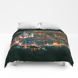 City of Lights New York City (Color) Comforters