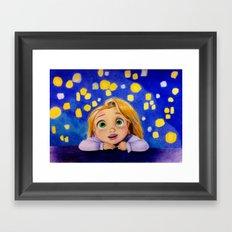 Big Dreamy Eyes Framed Art Print