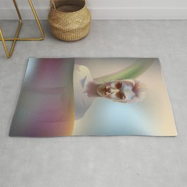 portrait in the water Rug