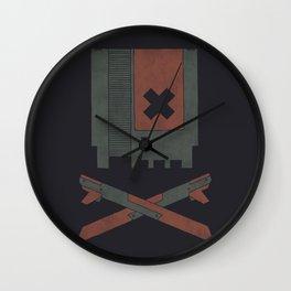 8 Bit Skull Wall Clock
