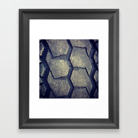 Big Rig Tire Tread Framed Art Print