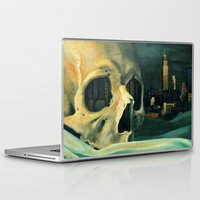oil Laptop & iPad Skins featuring Civilizations Oil Painting by Thubakabra