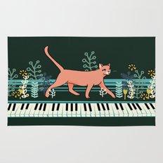 Kitten on the Keys Rug