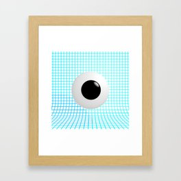 Clear Eye - Graph Paper Framed Art Print