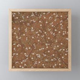 Chocolate Mocha Paw Prints Framed Mini Art Print