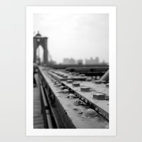 brooklyn bridge Art Prints featuring Brooklyn Bridge by Alane Gianetti