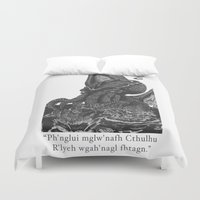 cthulhu Duvet Covers featuring Cthulhu by IG Design