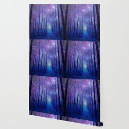 Fantasy Path Purple Blue Wallpaper