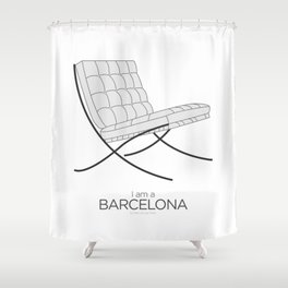 Chairs - A tribute to seats: I'm a Barcelona (poster) Shower Curtain