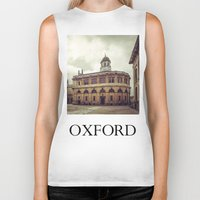 theater Biker Tanks featuring Oxford: Sheldonian Theater by Solar Designs