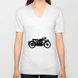 Motor Cycle Silhouette Unisex V-Neck
